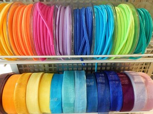 Organzabänder, elastische Rundbänder
