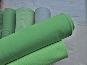 Bündchenstoffe in Grüntönen