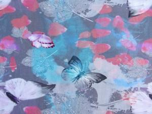 Baumwoll-Jersey Schmetterlinge