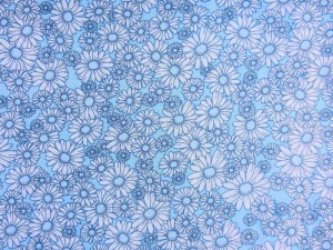 Viscose Blümchen hellblau