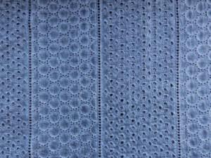 Stickereistoff Batik jeansblau