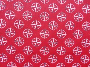 Baumwollserie Kompass rot