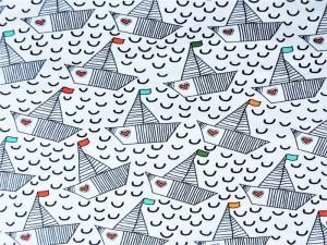 Baumwoll-Sweat Love-Boat