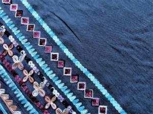 Baumwoll-Jean mit Bordüre