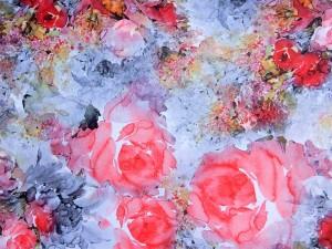 Lycra Rosen-Aquarell