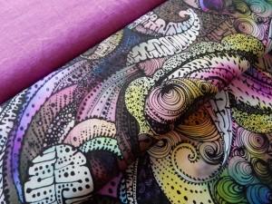 Baumwoll-Jersey Gaudi violett