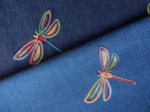 Baumwoll-Jean Libelle dunkel- und hellblau
