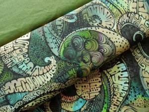 Baumwoll-Jersey Gaudi grün