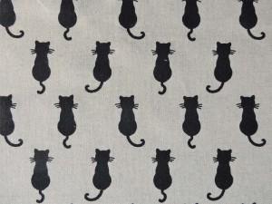 Dekorleinen Katze natur