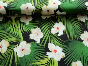 Baumwoll-Jersey Palmenblatt