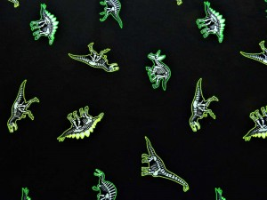 Glow in the dark Baumwoll-Jersey Dino