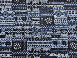 Norweger-Strickstoff blau
