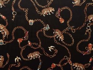 Viscose-Twill Leopard