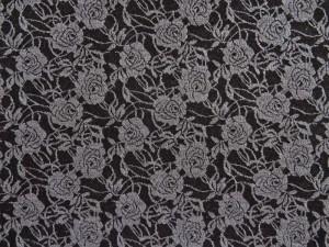 Jaquard-Jersey schwarz dunkelgrau