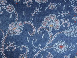 Satinierte Baumwolle in Jeansoptik