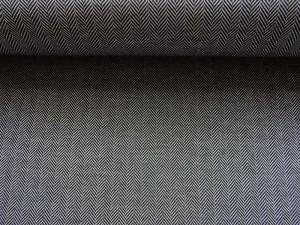 Stretch Fischgrät schwarz grau