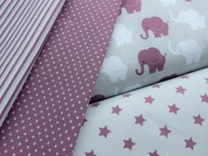 Baumwoll-Jersey-Serie Elefanten