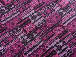 Norweger Strickfleece pink