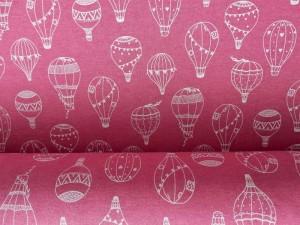 Baumwoll-Sweat Ballon pink
