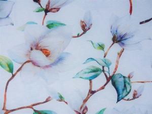Dekorleinen Magnolie weiß