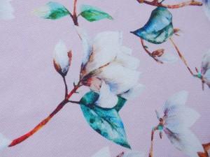 Dekorleinen Magnolie rosa