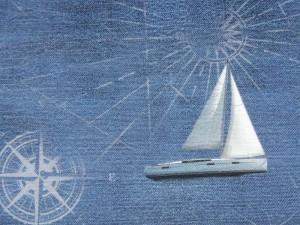 Dekorleinen Segelschiff