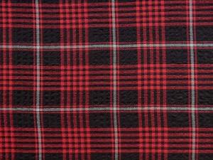 Karostoff elastisch rot schwarz