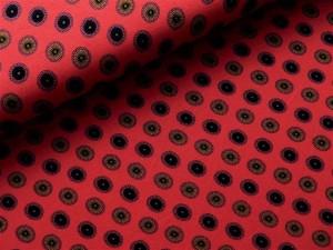Viscose-Jersey  Kreise rot