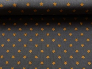 Baumwoll-Jersey-Serie Sterne ocker