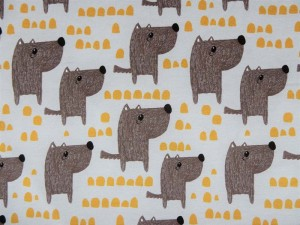 Baumwoll-Jersey Hunde braun