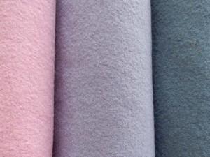 Schurwoll-Walkstoffe pastell