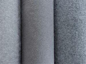 Schurwoll-Walkstoffe grau