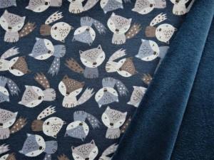 Alpensweat mit Füchsen dunkelblau