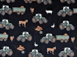 Baumwoll-Jersey Bauernhof dunkelblau