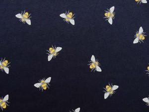 Baumwoll-Jersey Bienen dunkelblau