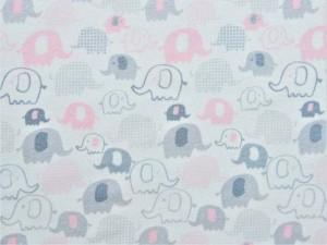 Interlock-Jersey Elefanten rosa