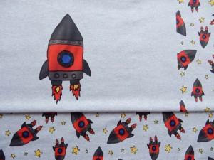 Baumwoll-Jersey Rakete rot
