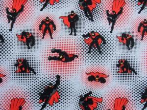 Baumwoll-Jersey Superhelden rot