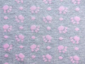 Jaquard-Jersey Pfötchen rosa
