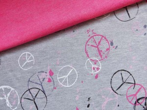 Baumwoll-Sweat Peace pink