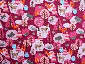 "Baumwoll-Jersey ""Woody"" pink"