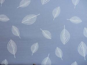 Baumwoll-Canvas Blatt blau