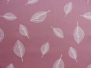 Baumwoll-Canvas Blatt altrosa