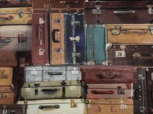 Dekorleinen alte Koffer