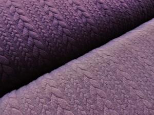Jaquard-Jersey violett