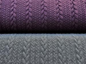 Jaquard-Jersey grau und violett