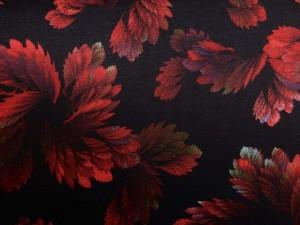 Punto-Jersey Blätter rot