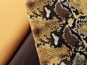 Viscose-Webstoff Schlange ocker