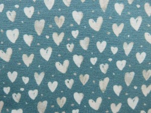 Baumwoll-Jersey Mini Winter hearts