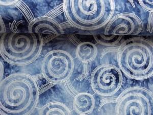 Batik-Viscose bestickt